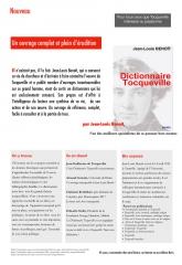 tocqueville,dictionnaire,démocratie,aristocratie,politique,